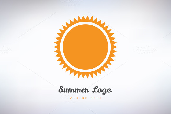 Sun Summer And Holiday Logo