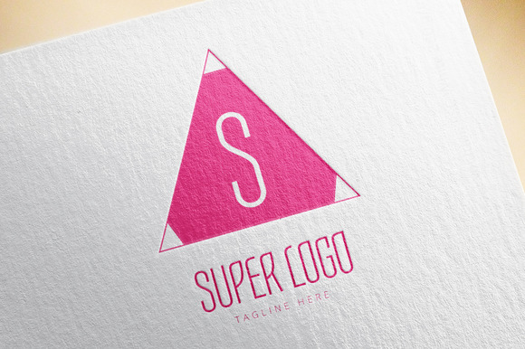 Abstract Triangle S Logo Element