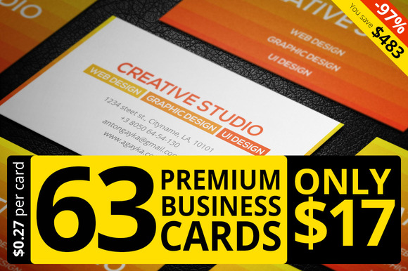 63 Premium Business Card Templates