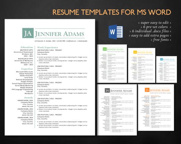Simple Clean 3 In 1 Word Resume