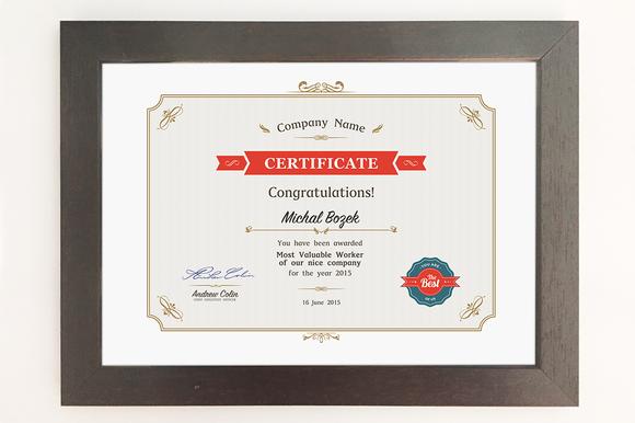 Certificate A4 Format PSD