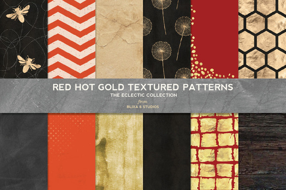 Red Hot Gold Textures Patterns