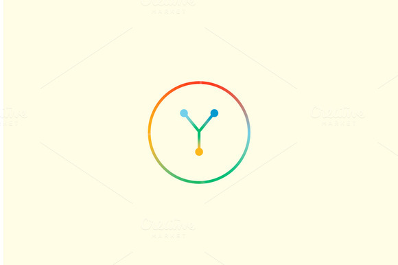 Abstract Colorful Line Letter Y Logo