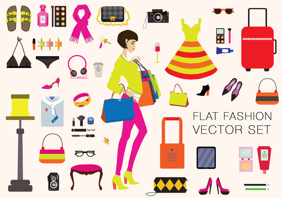Fashion Vector Illustrations Set