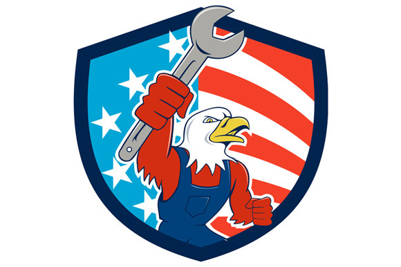 American Bald Eagle Mechanic Spanner