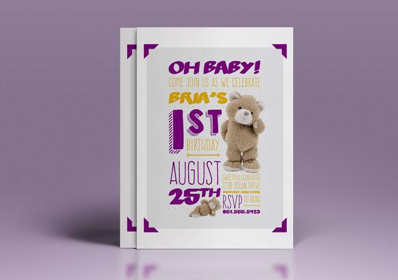 Baby S 1st Birthday Invitation