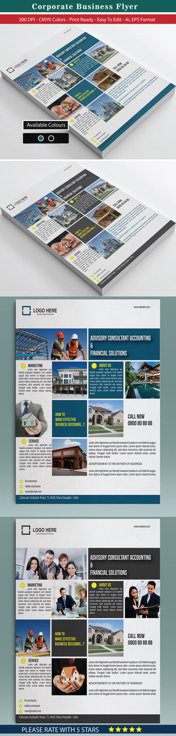 30 Corporate Business Flyer Bundle