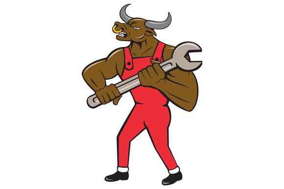 Mechanic Minotaur Bull Spanner Isola