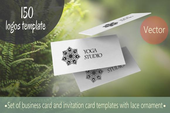 150 Logos Template Mandalas Vector