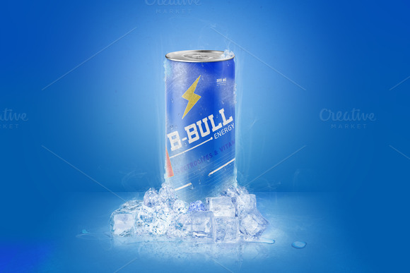 Energy Drink Can Mockup Vol 1
