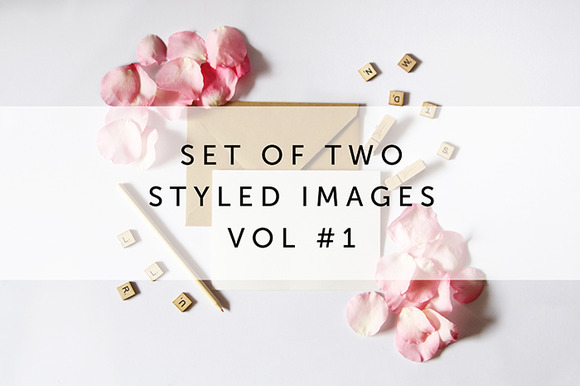 Set Of 2 Styled Stock Photography