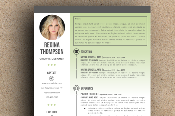 The Regina Resume Pack Green