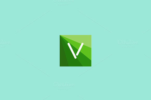 Abstract Letter V Logo Design