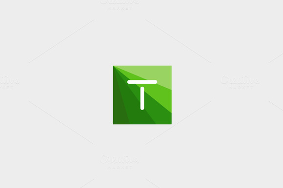 Abstract Letter T Logo Design