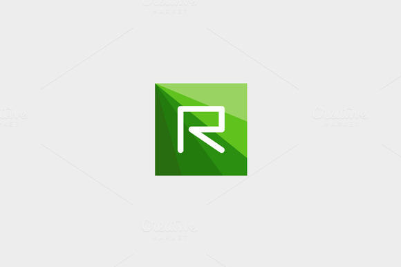 Abstract Letter R Logo Design