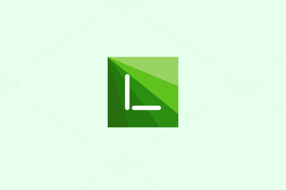 Abstract Letter L Logo Design