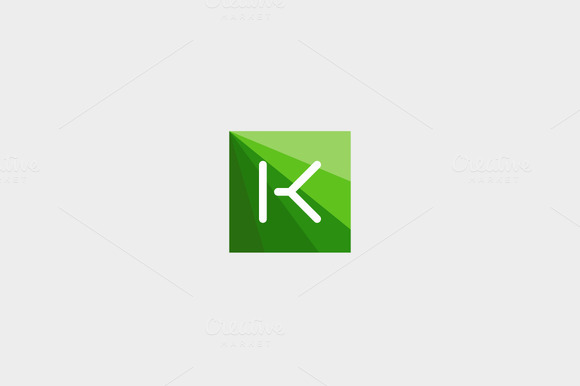 Abstract Letter K Logo Design