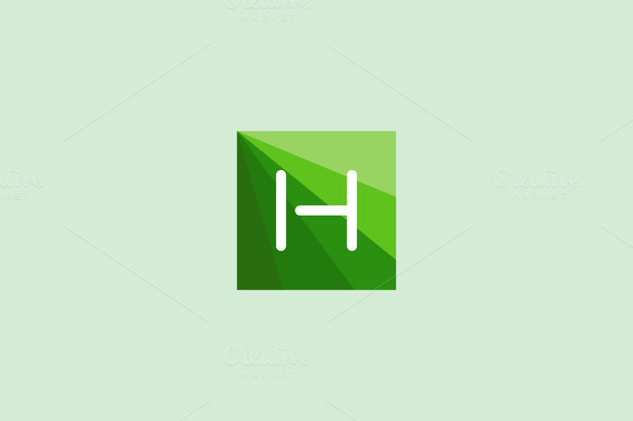 Abstract Letter H Logo Design