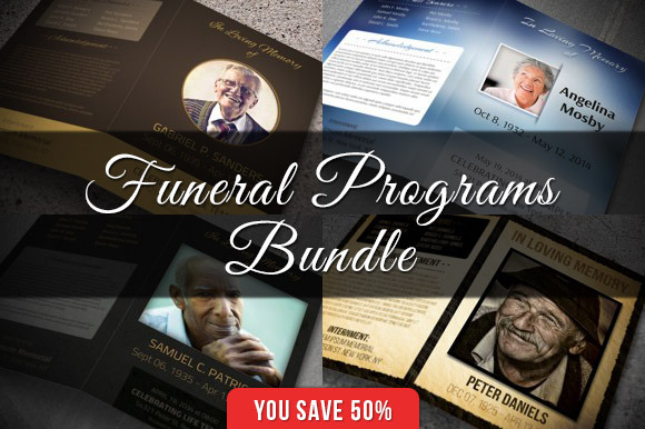 Funeral Programs Bundle