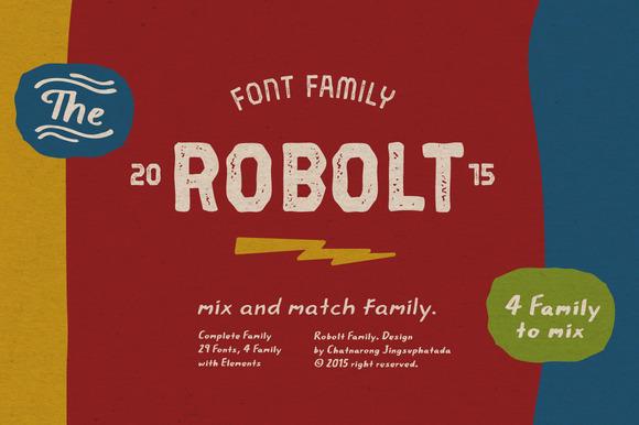 Robolt Font Complete Family