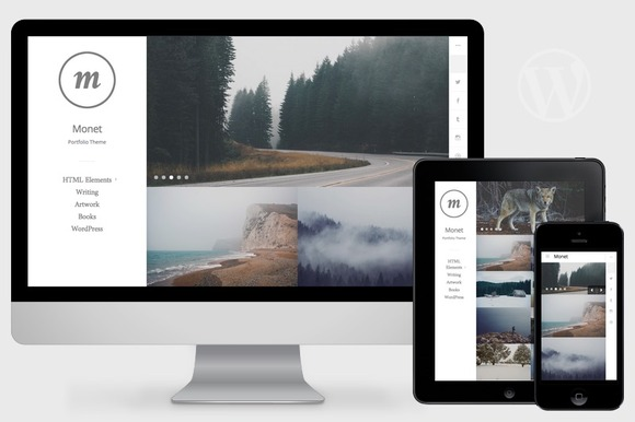 Monet WordPress Portfolio Theme