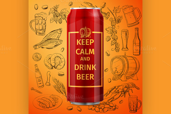 Beer Can Vector Illustration