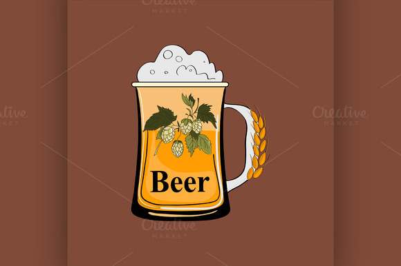 Colored Beer Emblem