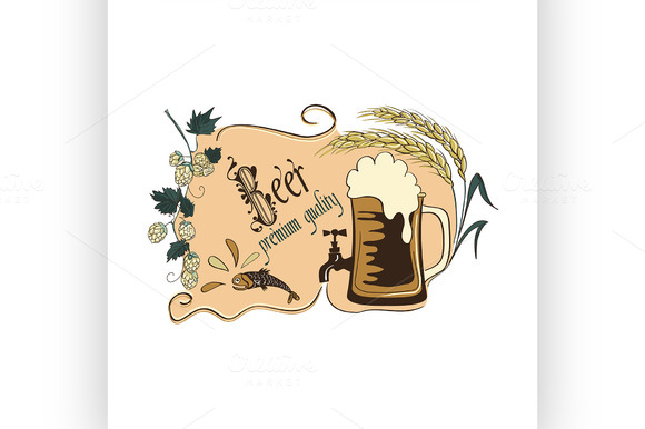 Colored Beer Emblem