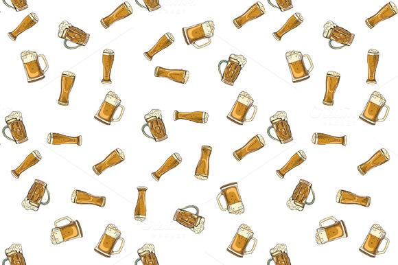 Doodle Beer Glasses Pattern