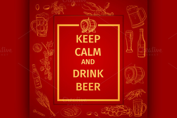 Poster Of Keep Calm And Drink Beer