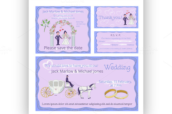 Wedding Invitation Thank You Card
