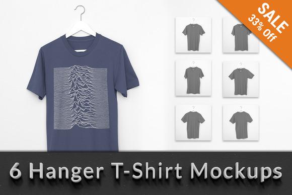 T-Shirt Hanger Apparel Mockups