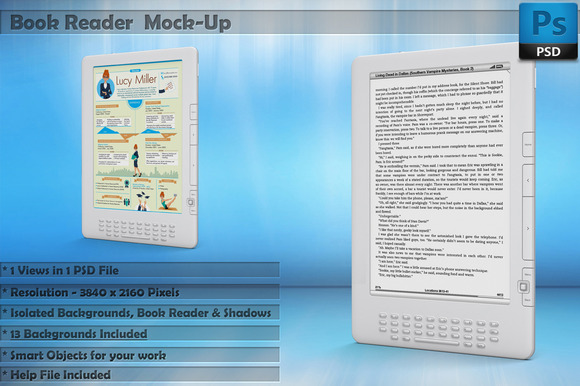 Book Reader Kindle Mockup Vol 2