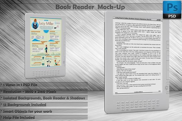 Book Reader Kindle Mockup Vol 3