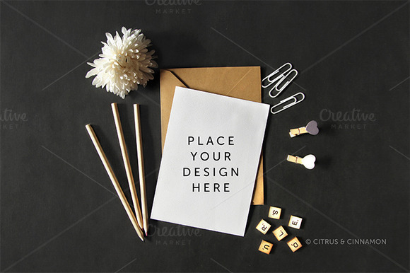 Styled Image Invitation Mockup