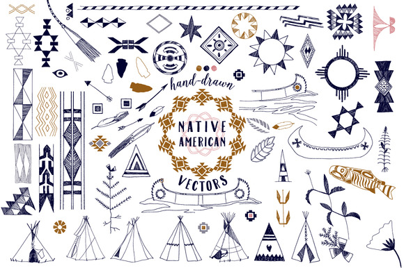 Native American Graphics Patterns