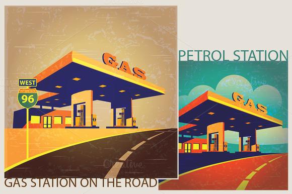 Gas Station Set