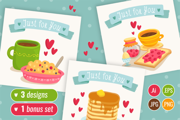 3 Cute Yummy Card Designs