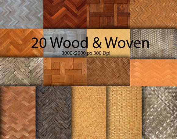 20 Wood Texture Mix