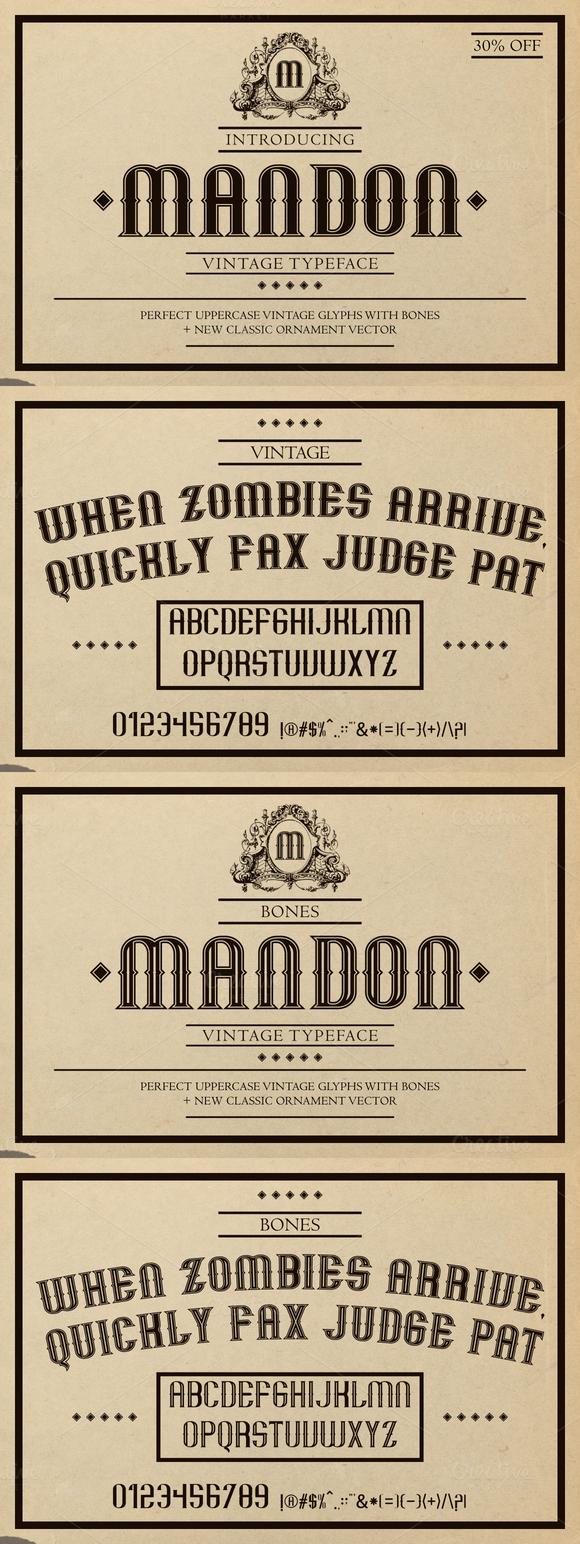 Mandon Vintage Typeface