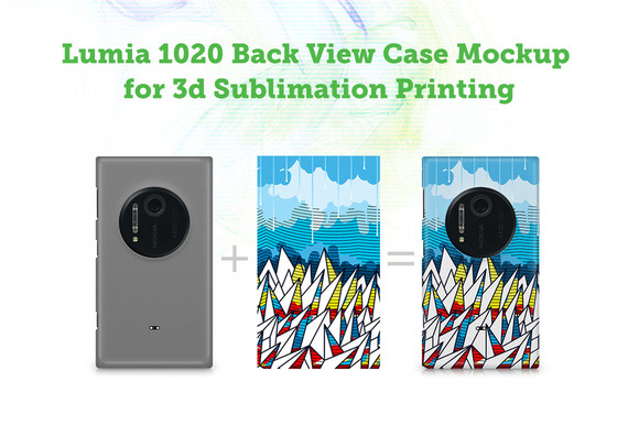 Lumia 1020 3D Sublimation Mockup