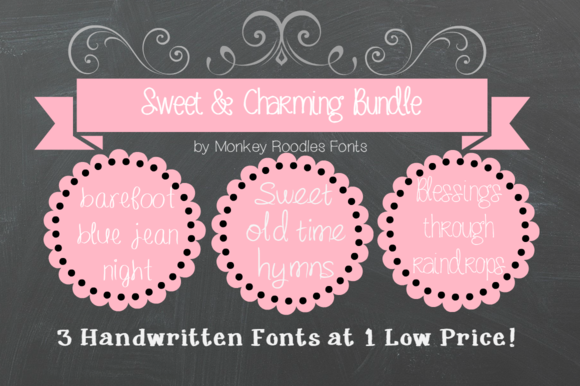 Sweet Charming Font Bundle