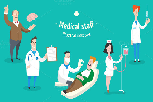 Medical Staff 5 Characters