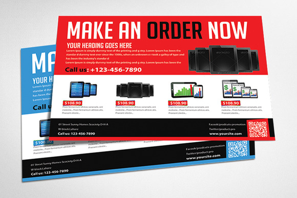 Product Promotion Flyer Templates