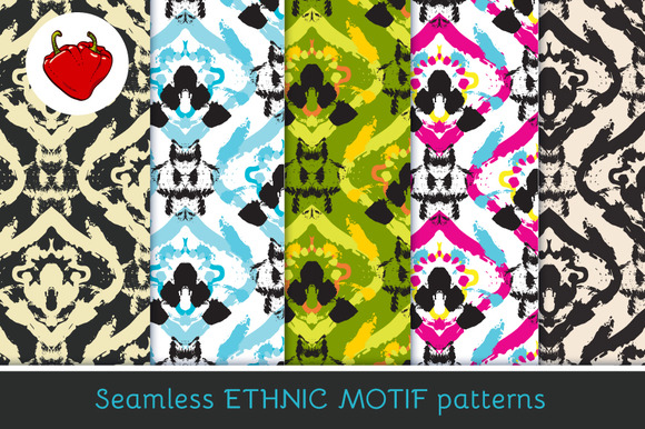 Ethnic Motif Seamless Pattern 2