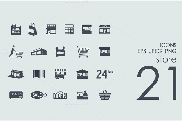 21 Store Icons