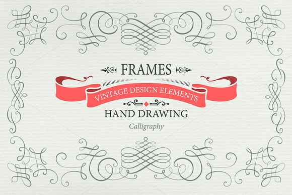 Calligraphy Frames And Elements II