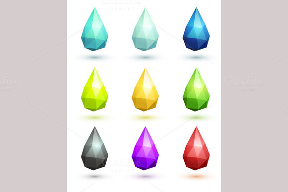 Set Of Stylized Drops
