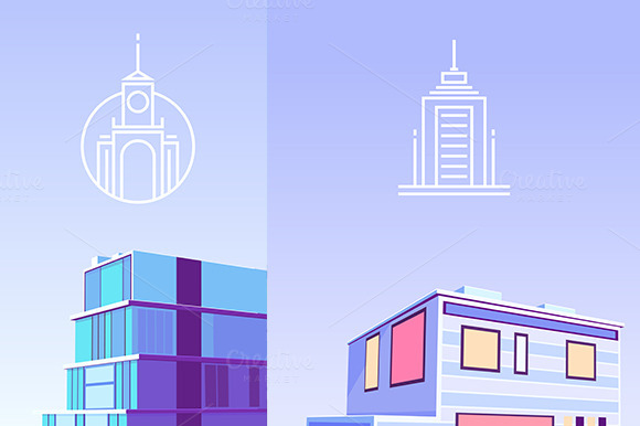 Vector Logos And Buildings