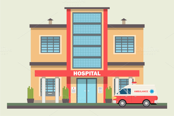 Medical Center Building Vector